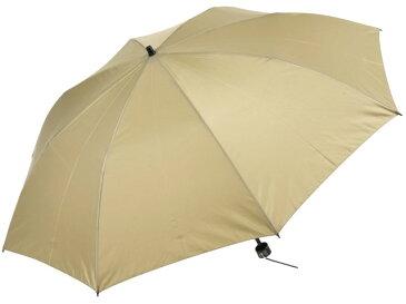 かさ工房ワカオ 親骨55cmメンズ折りたたみ傘(ベージュ) 軽量 高密度 超撥水雨傘 日本製傘 Tokyo Made WAKAO 紳士 男