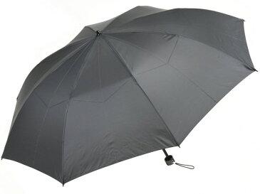 かさ工房ワカオ 親骨55cmメンズ折りたたみ傘(グレー) 軽量 高密度 超撥水雨傘 日本製傘 Tokyo Made WAKAO 紳士 男