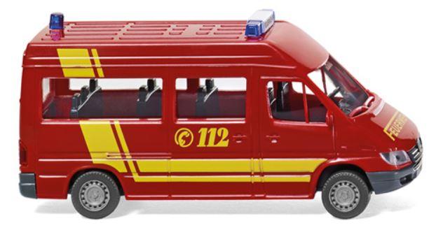 車, ミニカー・トイカー 187 Feuerwehr - MB Sprinter Bus ( ) 0601-26Wiking4006190601269