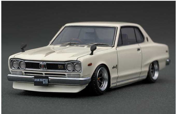 車, ミニカー・トイカー 143 Nissan Skyline 2000 GT-X (KGC10) White IG0378 ignition model4571477903782