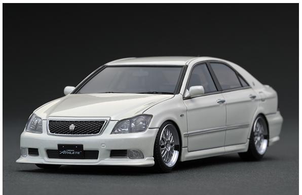 車, ミニカー・トイカー 143 Toyota Crown (GRS180) 3.5 Athlete Pearl White IG1499 ignition model4573448884991