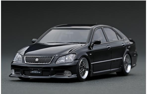 車, ミニカー・トイカー 143 Toyota Crown (GRS180) 3.5 Athlete Black IG1500 ignition model4573448885004