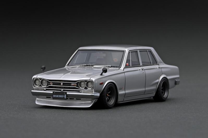 車, ミニカー・トイカー 143 Nissan Skyline 2000 GT-R (PGC10) Silver IG2248 ignition model4573448892484