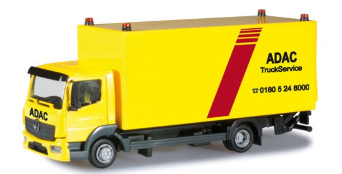 車, ミニカー・トイカー 187 Mercedes-Benz Atego box truck with liftgate ADAC Truck Serviceherpa3034084013150303 408