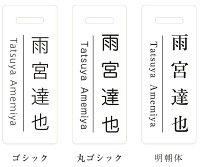 ゴルフネームプレート・ネームタグ/スクエアタイプ/クリア/カラー文字/ピンク