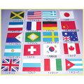 20ヶ国付き10メートル(旗大サイズ)ビニール万国旗12ヶ入り