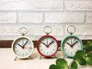 【ポマリーアラームクロック(アイボリー)(レッド)(ミントグリーン)】目覚まし時計