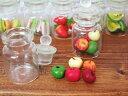 【ミニチュア リンゴ(青赤黄色)(ボトル入り)】ミニチュア小物 ミニチュアスイーツ ミニチュア雑貨 ミニチュアインテリア デコパーツ ナチュラル雑貨