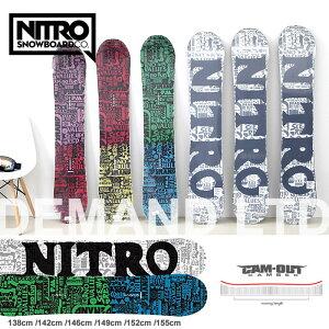 【7/19〜 最大P39倍&500円クーポンあり】スノーボード 板 ナイトロ NITRO [DEMAND LTD CAM-OUT]  ボード レディース スノボ  138cm/142cm/146cm/149cm/152cm/155cm  キャンバー snowboard