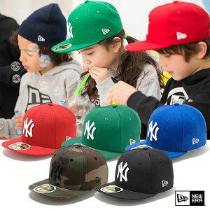 NEW ERA ニューエラ キッズ K'S 59FIFTY NY ジュニア ニューヨーク・ヤンキース 5950 キャップ ウールキャップ 帽子 ユース 11310391/11310401/11310402/11310405/11310406