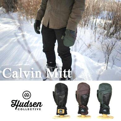 HUDSENグローブハドソンCALVIN【ミトンタイプ】【メンズ】スキースノーボードスノーグローブスキーグローブメンズ男性用