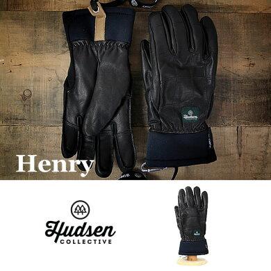 HUDSENグローブハドソンHENRY【HC-31M】【5本指タイプ】【メンズ】スキースノーボードスノボスノボースノーグローブスキーグローブメンズ男性用