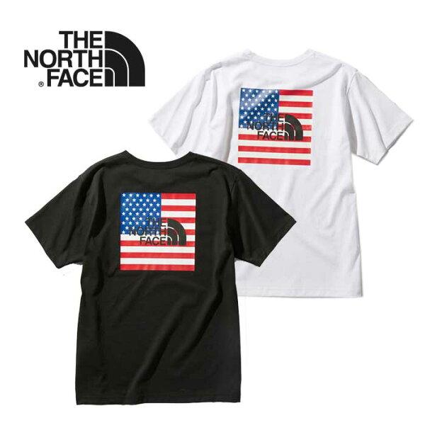お買い物マラソン最大P5-29倍 ノースフェイスTシャツTHENORTHFACE NT32053 S/SNATIONALFLG
