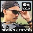 スワンズ 偏光サングラス SWANS ガルウィング 【 HOOD別注カラー 】 GULLWING ( Matt Bk / Polarized Smoke ) ランニング スポーツ golf ゴルフ サイクリング フィッシング 釣り ギフト 【10P-2】