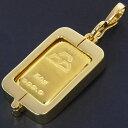 【最大32,000円OFFクーポン配布中!】 日本マテリアル 24金 純金 インゴット 50g ペンダントトップ 枠脱着可能 ゴールドバー K24(50459)・・・