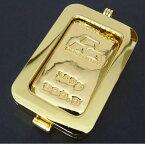 【新品】日本マテリアル 純金 インゴット 100g 24金 ペンダントトップ 枠脱着可能 新品 ゴールドバー ingot K24(50460)