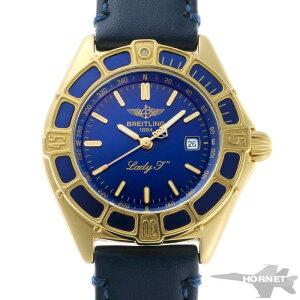 BREITLING Lady J Quartz K52065 Blue Dial 750YG [Used] [Watch] 1910527