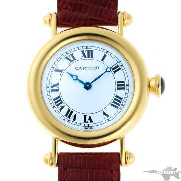 Cartier カルティエ ディアボロ LM メカニカル 手巻 W1508151 ホワイトエナメル文字盤 750YG 【中古】【時計】 1910550