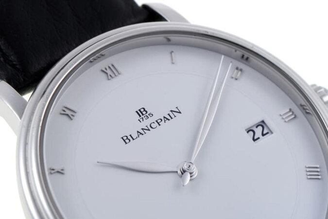 BLANCPAINブランパンヴィルレウルトラスリムオートマチック6223-1127-55Aホワイト文字盤SS【中古】【時計】2010067