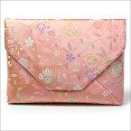 【茶道具 数寄屋袋/数奇屋袋/すきや袋】数寄屋袋 柳桜に花の丸 正絹和風バッグインバッグとして 和装 着物 浴衣のバッグ 小物入れ