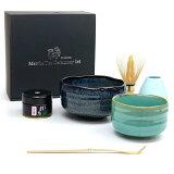 芳香園 茶道具 抹茶 セット 抹茶碗 碧釉茶碗・緑彩小茶碗