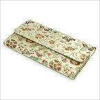 【茶道具 帛紗ばさみ・懐紙入】三つ折帛紗ばさみ 早雲寺文台裂 龍村美術織物和風のバッグインバッグとして