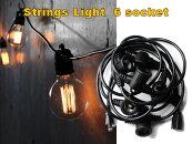 ストリングスライト6ソケットStringsLight6socketディスプレイエジソン電球DETAILインテリア照明E26