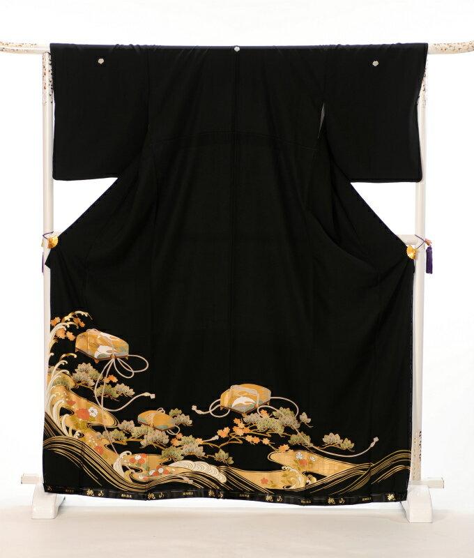 【レンタル】 留袖レンタル 黒留袖 レンタル フルセット8AA12 149cm〜170cm位まで 足袋・肌着プレゼント 往復送料無料