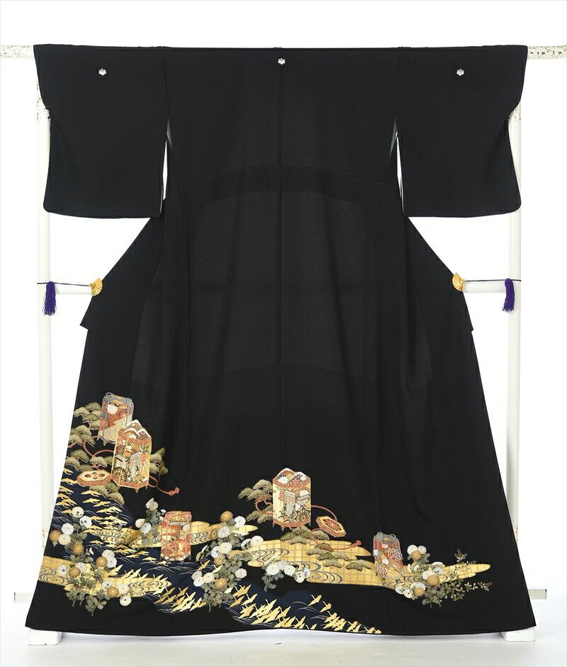 留袖レンタル 留袖 レンタル 着物レンタル レンタル着物 黒留袖 フルセット8AA166 149cm〜168cm位まで 留め袖 レンタル