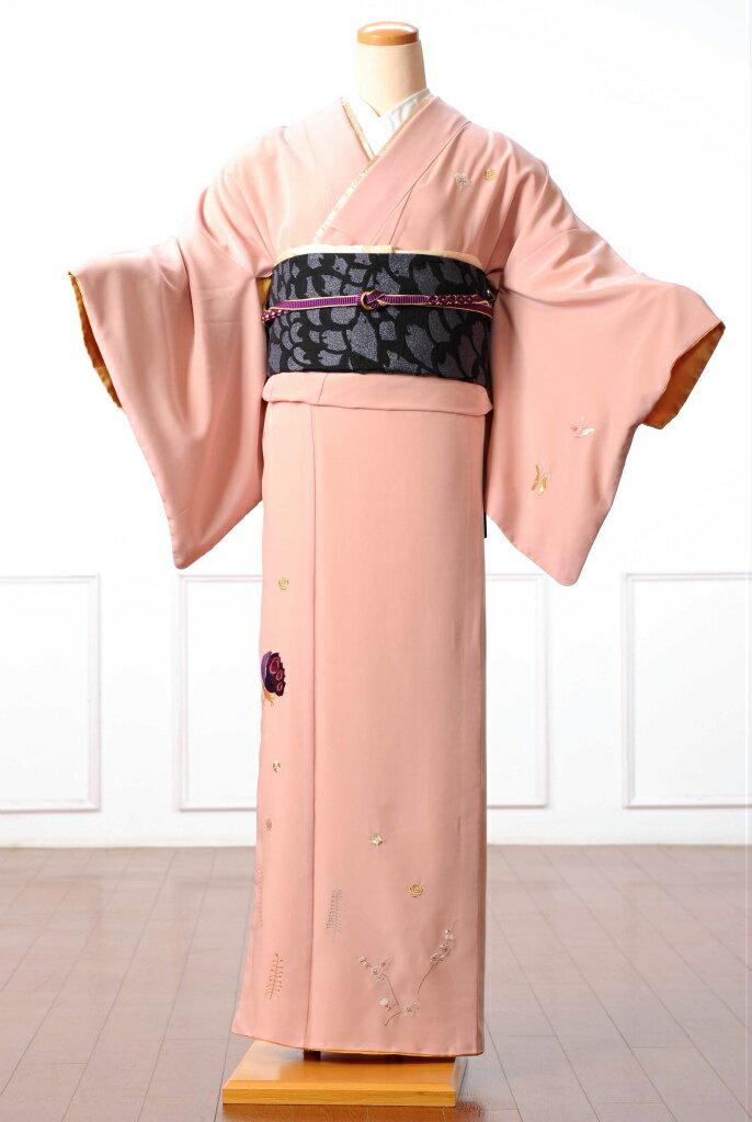 ツモリチサト tsumori chisato 訪問着 レンタル 着物レンタル レンタル着物 訪問着レンタルフルセット 8AD24 着物 着物 貸衣装 ピンク ネコモチーフ 149cm〜167cm位まで 足袋・肌着プレゼント