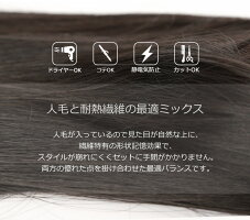 女性用かつらヘアスタイルアップ画像_UH8001