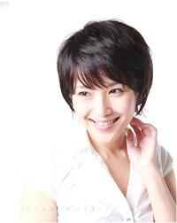 ウイッグ人毛のモデル画像JH301001P-N2