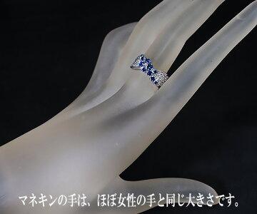 【中古】田崎真珠サファイアダイヤモンドリング【質屋出店】【送料無料】