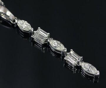 【中古】クィーンジュエリー(平和堂貿易)750WGダイヤモンドネックレス【質屋出店】【送料無料】