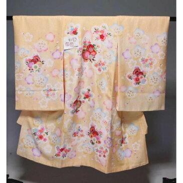 お宮参り 祝着(うぶぎ  掛け着物)女の子 565  上質品