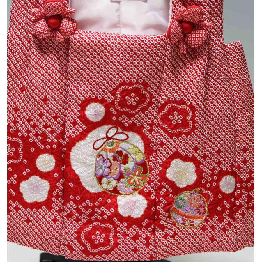 正絹 総絞り 七五三 三歳用 被布 単品 212