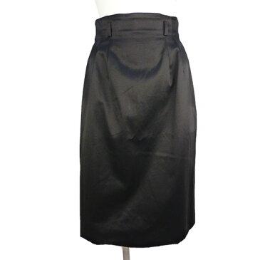 【クリスチャン・ディオール Christian Dior】美品 コットン 黒 タイトスカート 9号サイズ レディース【中古】