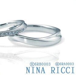 【送料無料】結婚指輪マリッジリングレディースNINARICCI6RB0003【ニナリッチPt900】★☆**