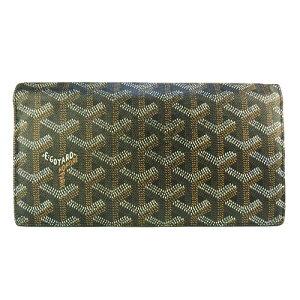 [GOYARD Goyar] 아름다운 제품 Richelieu 헤링본 블랙 로고 지갑 2 단 지갑 [중고]