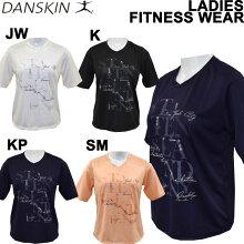 danskin/ダンスキンレディース半袖Tシャツ/フィットネスウェア/ルーズTシャツDB77186T【メール便も対応】
