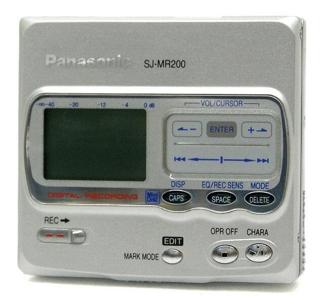ポータブルオーディオプレーヤー, ポータブルMDプレーヤー !! Panasonic SJ-MR200-S MDMD MDLP () 1YA1-53-FE0LB009164