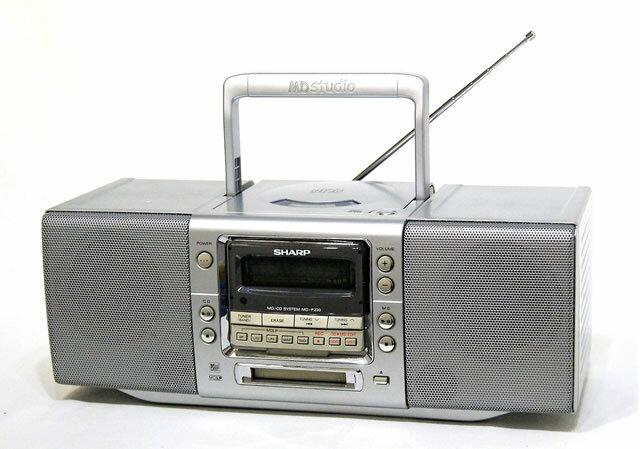 オーディオ, ラジカセ !! SHARP MD-F230-S MDCDCDMD MDLP YA1-53-30664758