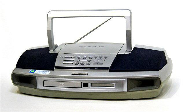 【中古】迅速発送+送料無料!! 《ジャンク品》 Panasonic パナソニック RX-MDX7-S シルバー パーソナルMDシステム(CD/MDデッキ)(ラジカセ形状タイプ)【@YA管理1-53R-JUNK】