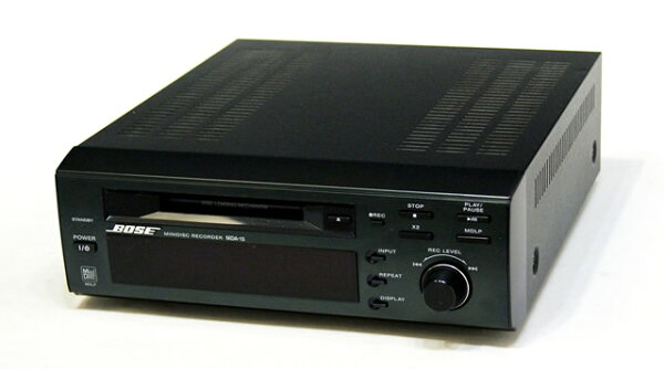 中古 迅速++動作保証BOSEボーズMDA-15アメリカンサウンドシステムMDレコーダー(MDデッキ)MDLP対応専用リモコン