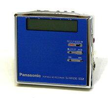 【中古】迅速発送+送料無料+動作保証!!PanasonicパナソニックSJ-MR230-AブルーポータブルMDレコーダー(MD録音再生兼用機/MDプレーヤー)MDLP対応【@TA管理2-53-FE21A003776】