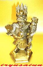 銅製五爪風水龍王像