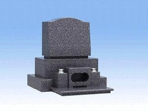 墓石の格安通販 デザインと安心価格のお墓洋型三段のお墓(青御影石)