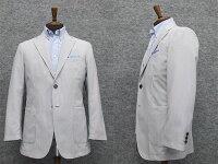 春夏物ジャケットグレー系コードレーンベーシック2釦シングル[A体][AB体]兼用アダルトジャケットWZ2270-00