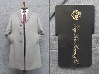 秋冬物日本製[ロロピアーナ]カシミヤ100%シングルチェスターコート[YA体〜AB体]対応スタイリッシュタイプ薄グレーメンズLO-coat38
