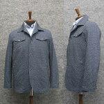 春夏物カバーオールジャケット超軽量素材デジタルプリント紺系千鳥格子[A体・AB体兼用]WE208-25